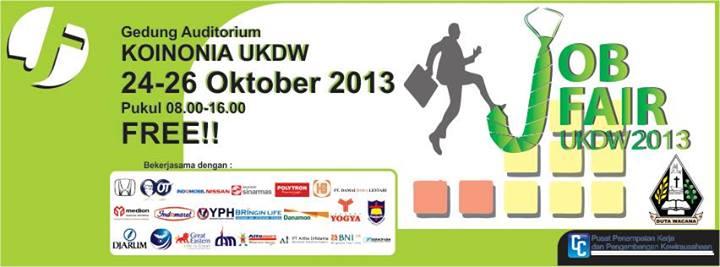 jobfair universitas kristen duta wacana (ukdw) 24-26 oktober 2013