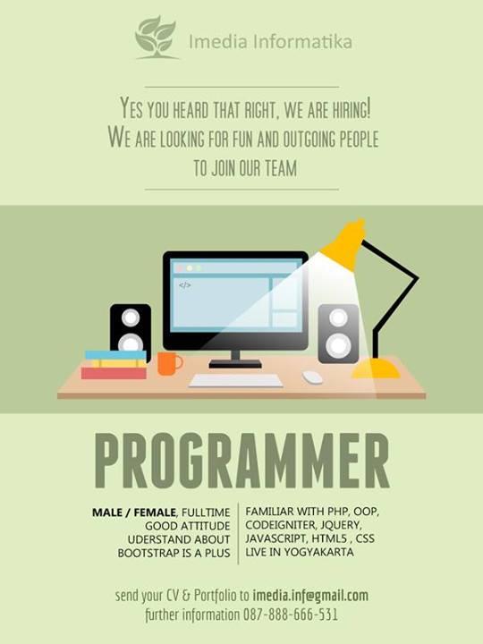 Lowongan Programmer Imedia Informatika