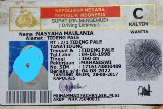 Penemuan Kartu Identitas dan SIM C