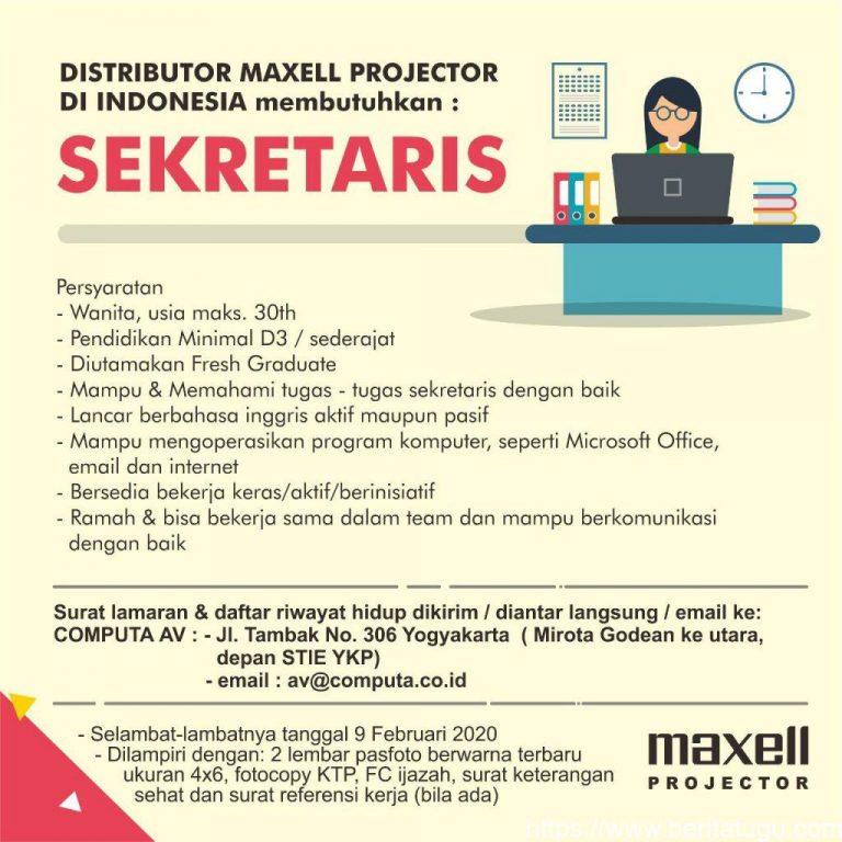 Lowongan Pekerjaan : Dibutuhkan Sekretaris di Maxell Projector Indonesia