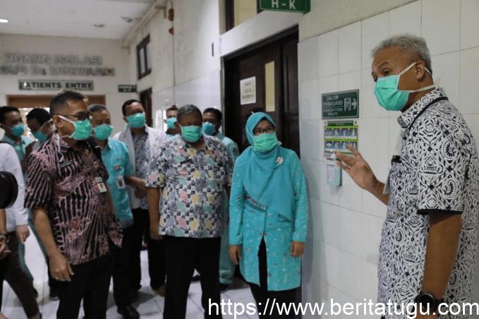 Ganjar Pranowo Sidak Kesiapan Menghadapi Virus Corona di RSUD dr Moewardi Surakarta