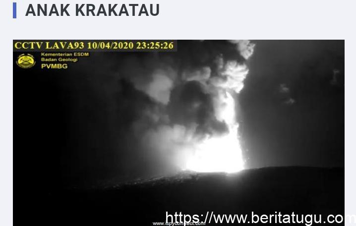 Gunung Anak Krakatau mengalami erupsi