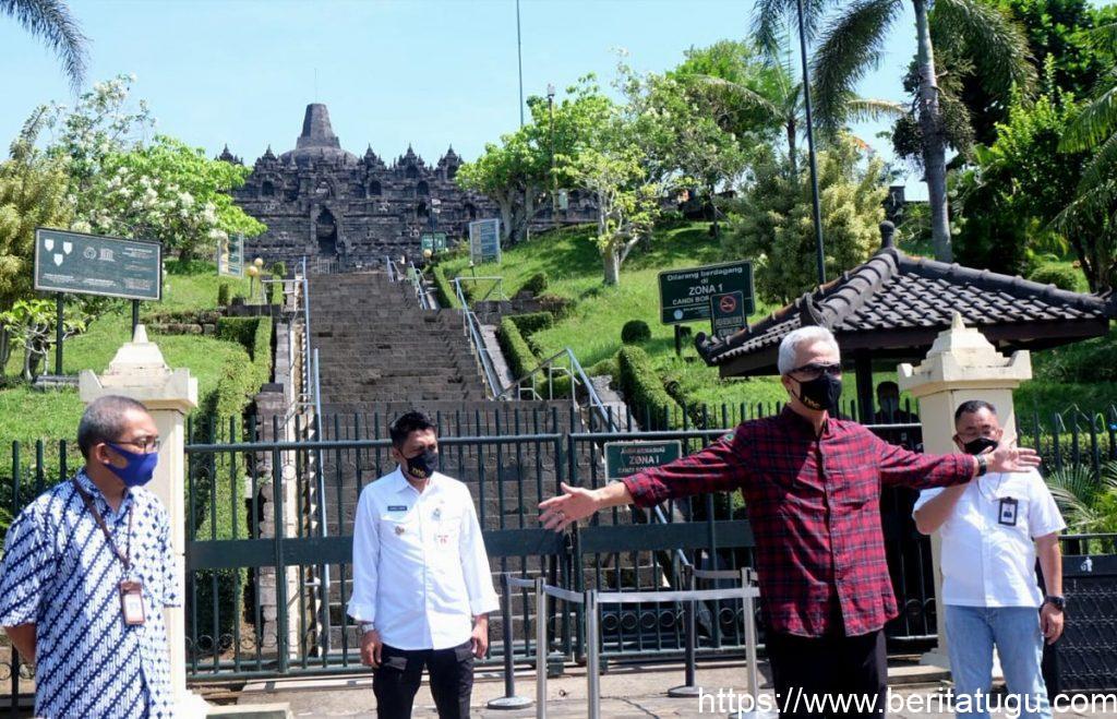 Taman Wisata Candi Borobudur Gelar Simulasi Protokol Kesehatan Sektor Pariwisata Guna Persiapan Dibukanya Kembali Wisata Candi Borobudur