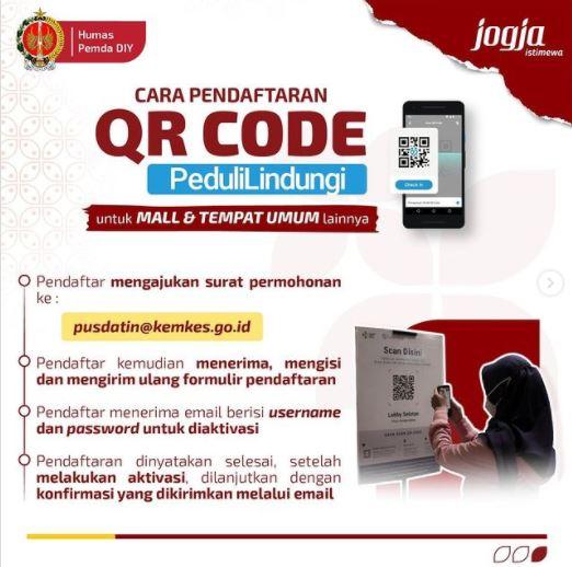 Tata Cara Pendaftaran QR Code PeduliLindungi untuk Mall dan Tempat Umum