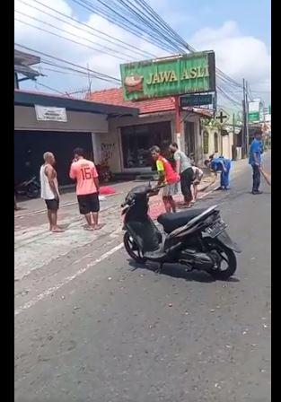 Kecelakaan Motor di Jalan Kadipiro Gamping Sleman, Yogyakarta