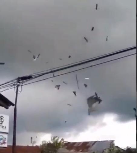Wonosari, Kejajar Wonosobo Diterjang Angin Kencang Pada Rabu, 15 September 2021